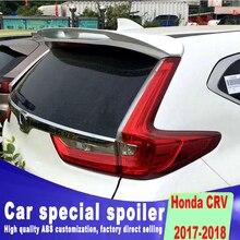 New style 2017 2018 year for honda CRV new design spoiler rear window roof high quality primer or black white spoilers
