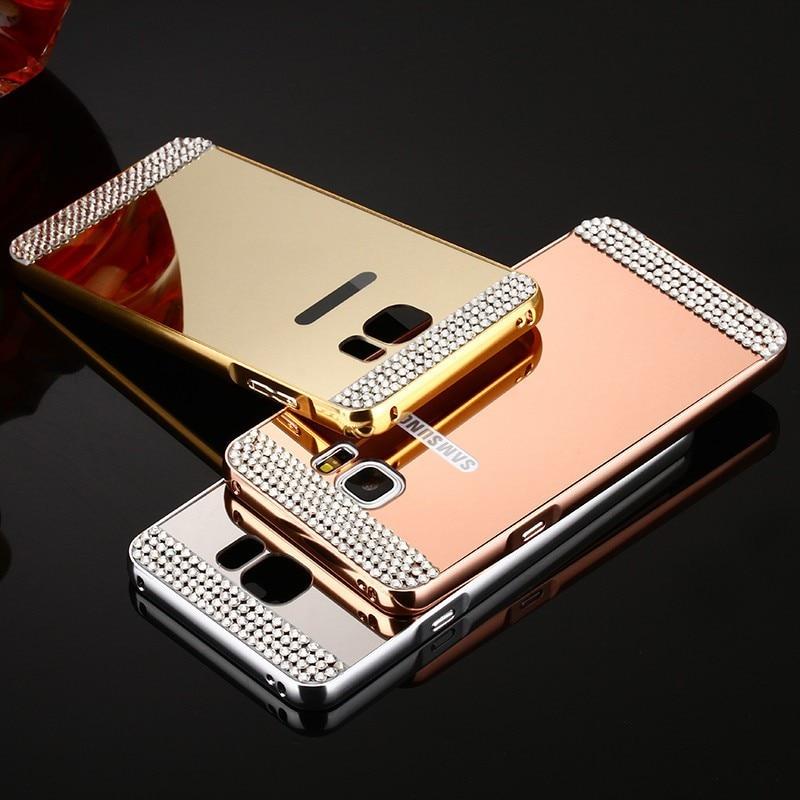 For Huawei P10 Aluminium Metal Bumper Case Luxury Lady Women Case For Huawei P8 P9 Plus P10 Lite P7 Diamond Stone Phone Cover