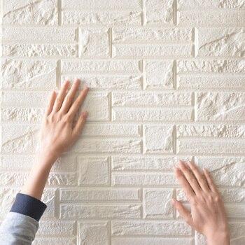3D stereo wall stickers bedroom living room self-adhesive wallpaper brick wallpaper wall waterproof foam sticker 60*60