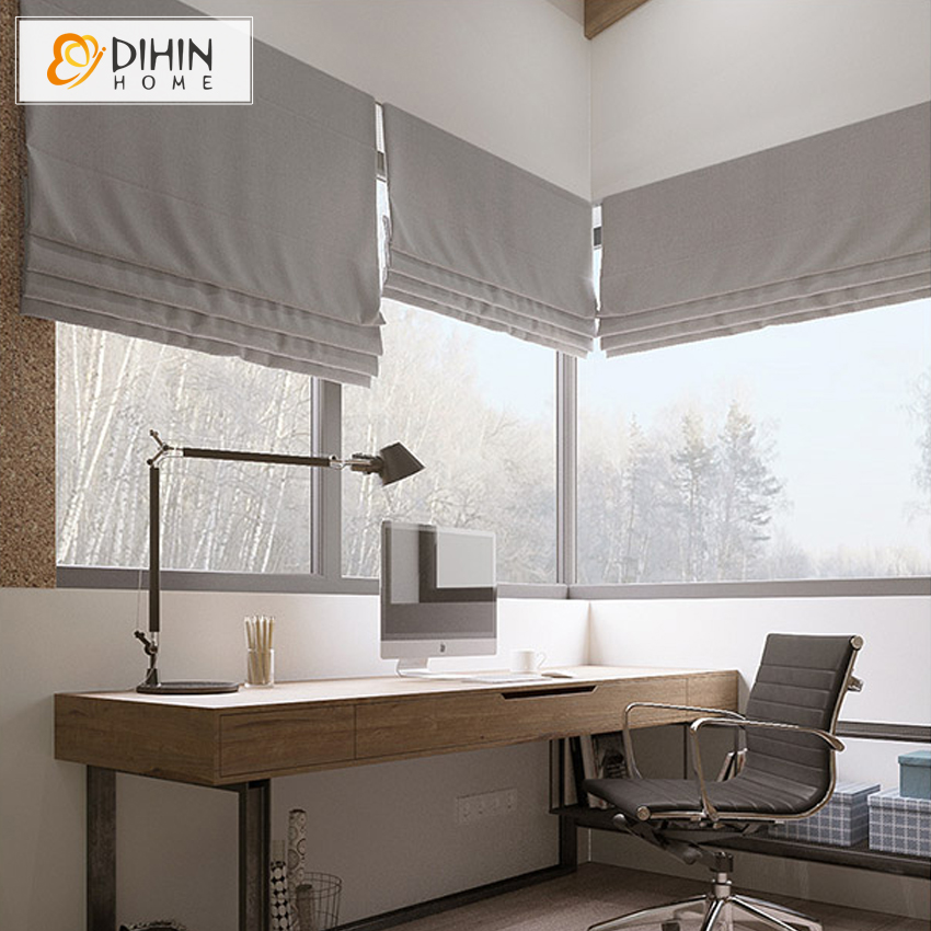 Us 48 99 Cotton Linen Fabric Window Curtains For Living Room Roman Blinds Customized Size Roller Blind In Blinds Shades Shutters From Home