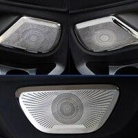 Car Accessories Inner Door Speaker Cover Trim Stickers Steel 4pcs For Mercedes Benz Vito 2014 2018