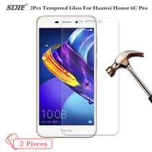 2Pcs Tempered Glass For HUAWEI honor 6C PRO 6 C 6CPRO screen Protector smartphone case 9H toughened High definition film