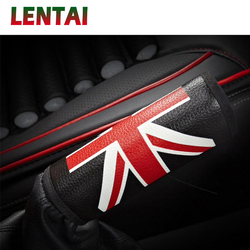 LENTAI 1Pc Auto Car Handbrake Cover Leather For Seat Leon Ibiza Renault Duster Megane 2 Logan Captur Clio Mazda 3 6 CX-5