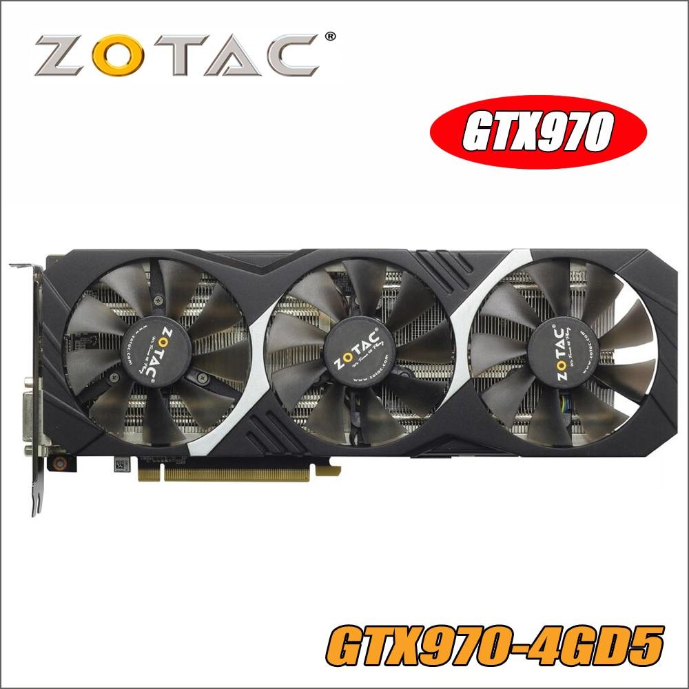 ZOTAC Video Card GeForce GTX 970 4GB 256Bit GDDR5 Graphics Cards for nVIDIA GM204 Original GTX970 1050 1050ti ti 4GD5 Hdmi Dvi цена