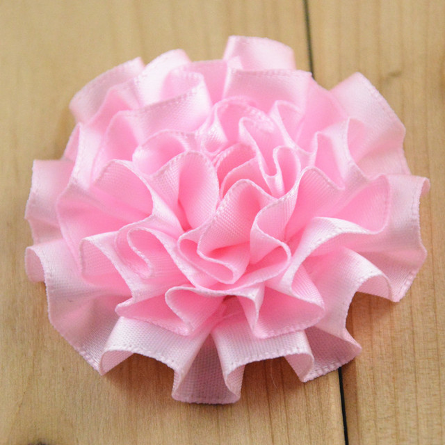 20 color 2 folded fabric flower diy satin ribbon cabbage style puff flowers for headwear - Images Of Flowers To Color 2