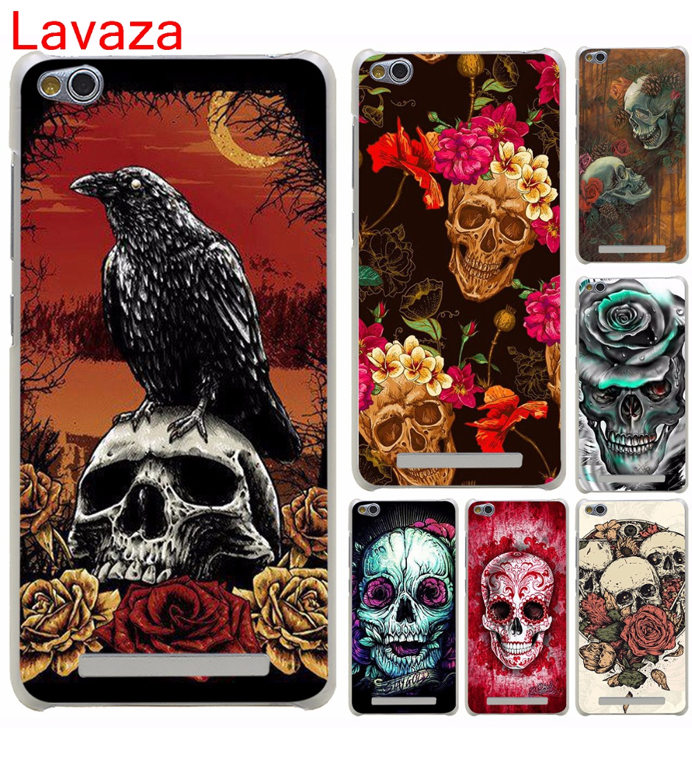 Lavaza Skull and raven on a moonlight Hard Cover Case for Xiaomi 6 5 5s Plus Redmi 3 4 Pro 4 Prime 4A Note 2 3 Pro 4 4X