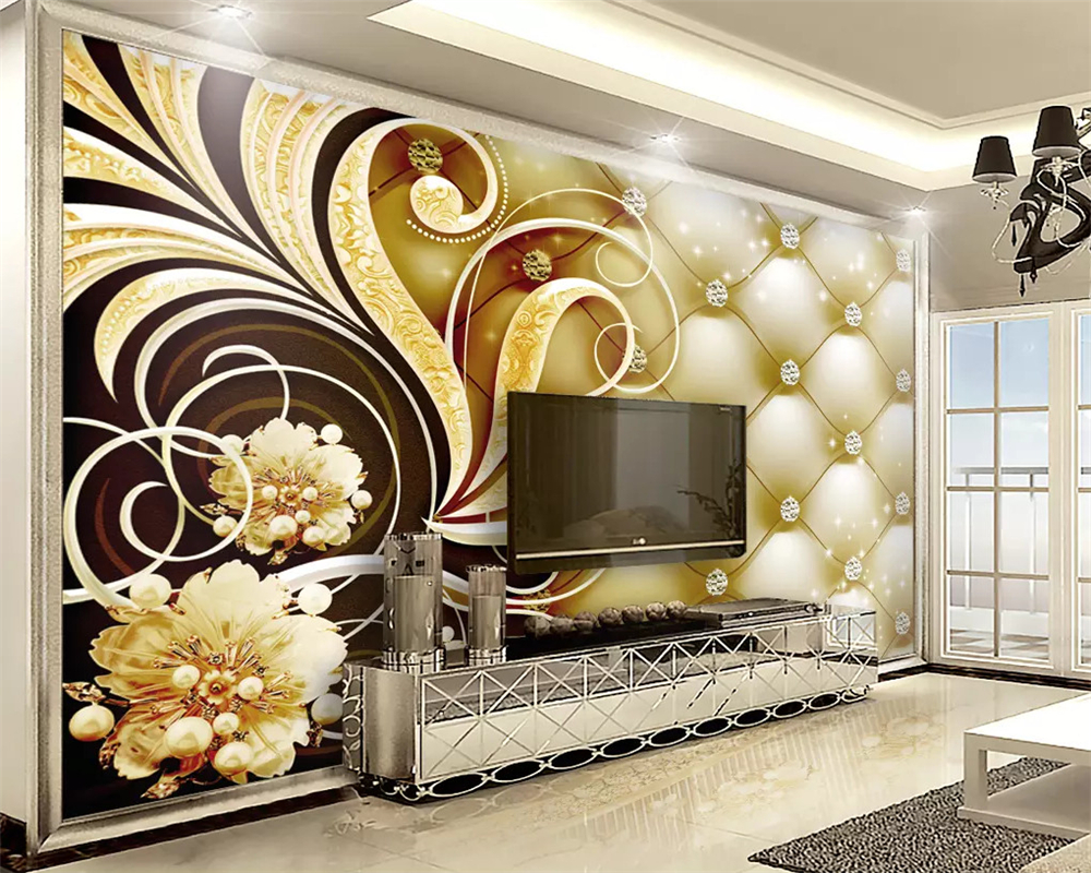 US $8 85 OFF Beibehang Wallpaper 3d Di Dinding Kustom Royal Diamond Soft Pack Foto Wallpaper Kertas Peint Mural 3D Kertas Dinding Rumah