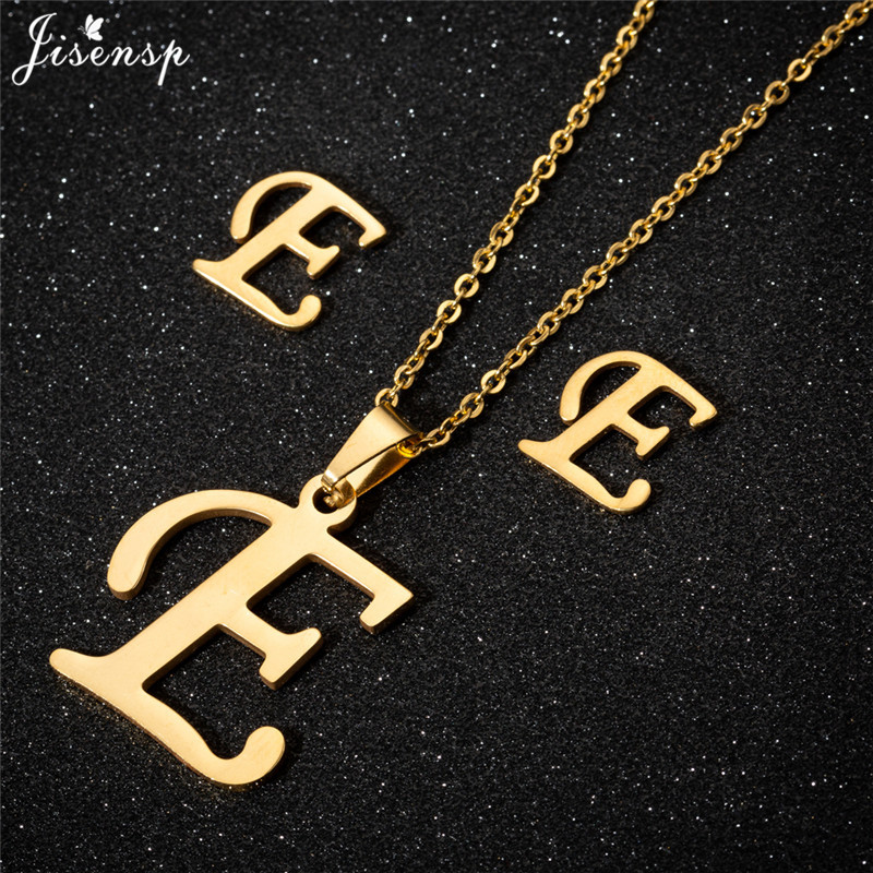 Jisensp Personalized A-Z Letter Alphabet Pendant Necklace Gold Chain Initial Necklaces Charms for Women Jewelry Dropshipping 11
