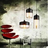 Vidro Nordic Sótão Lampe Estilo Retro Pingente Luminárias de Iluminação Industrial Do Vintage Edison Lâmpada Entregando Lampara