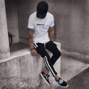 Image 4 - Pantalon Camouflage pour homme, pantalon de grande taille, à rayures latérales, Style Pop Hip hop, Streetwear, pour travail militaire, décontracté