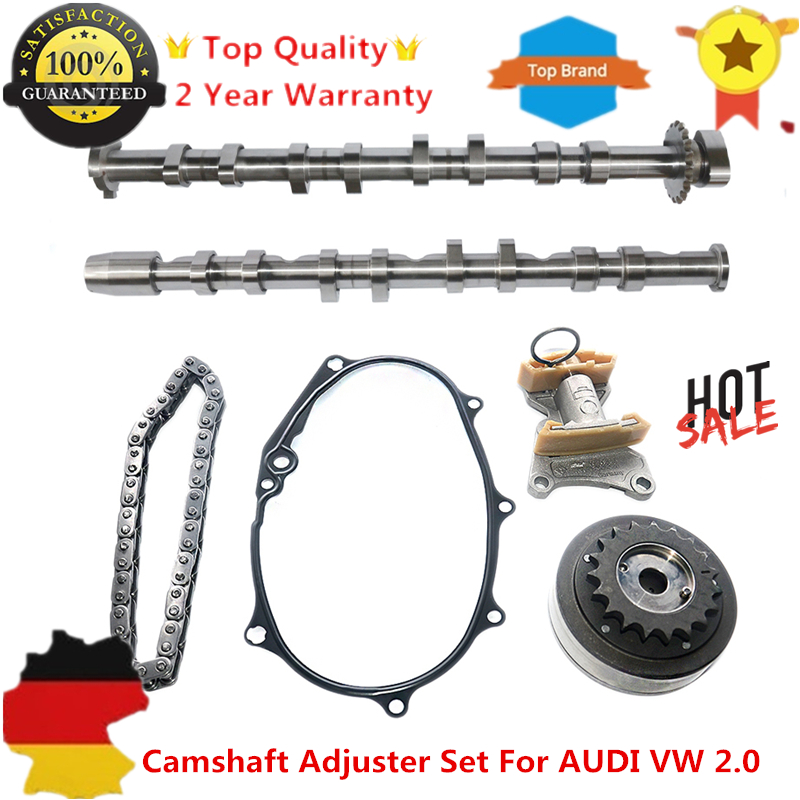 Intake Exhaust Camshaft VVT Timing Adjuster Set For AUDI A3 A4 Quattro A6 TT VW Golf GTI SKODA Octavia 2.0 BPY BPJ BYK BWA цены