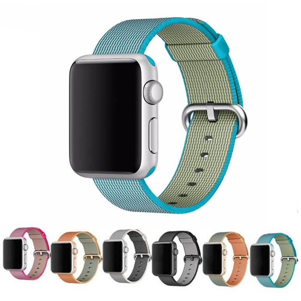 Prix pour Sport tissé bracelet en nylon pour apple watch nylon bande 42mm 38mm bracelet poignet bande hommes smart watch nylon bracelet 22 m