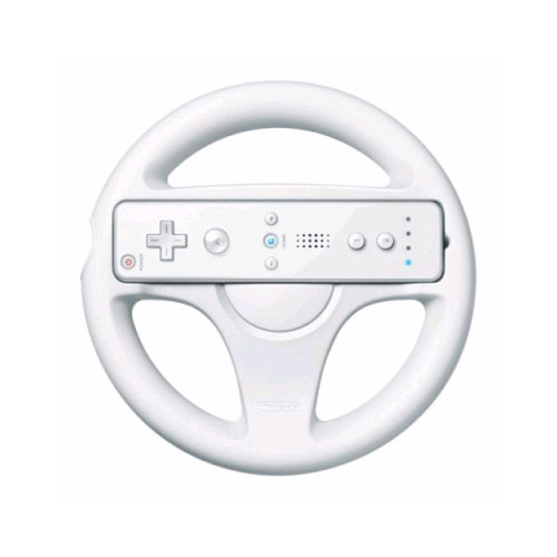 white mario kart racing games steering wheel for nintendo wii remote