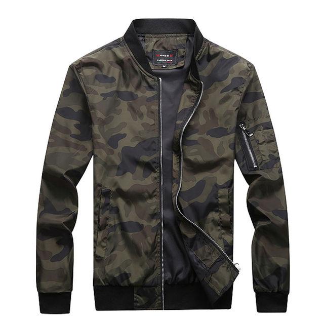 M-7XL 2019 New Autumn Men's Camouflage Jackets Male Coats Camo Bomber Jacket Mens Brand Clothing Outwear Plus Size M-7XL 1