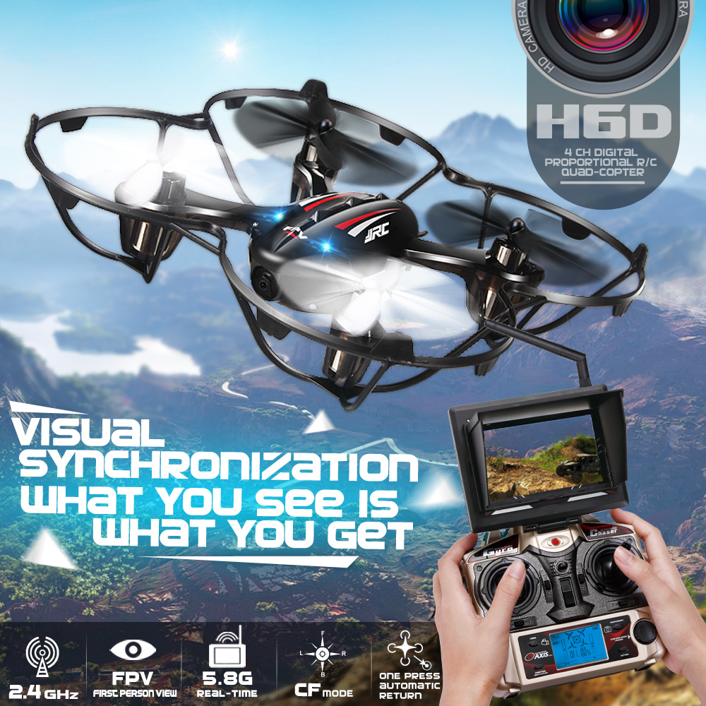 FPV Mini Drones With font b Camera b font Hd Jjrc H6D Quadcopters With font b