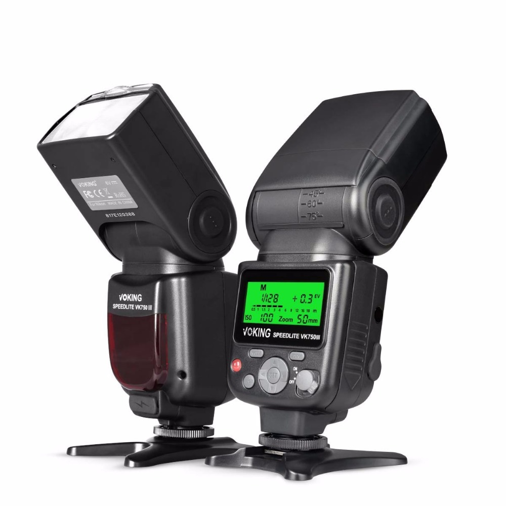 Voking 750III Remote TTL Speedlite Slave Mode Flash with LCD Display for Nikon DSLR Stan ...