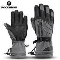 ROCKBROS 40 Degree Winter Thermal Gloves Waterproof Windproof Mtb Bike Cycling Gloves Ski Hiking Motocross Full