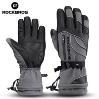 ROCKBROS 40 Degree Winter Thermal Ski Sport Gloves Waterproof Full Finger Mtb Bike Cycling Gloves Hiking