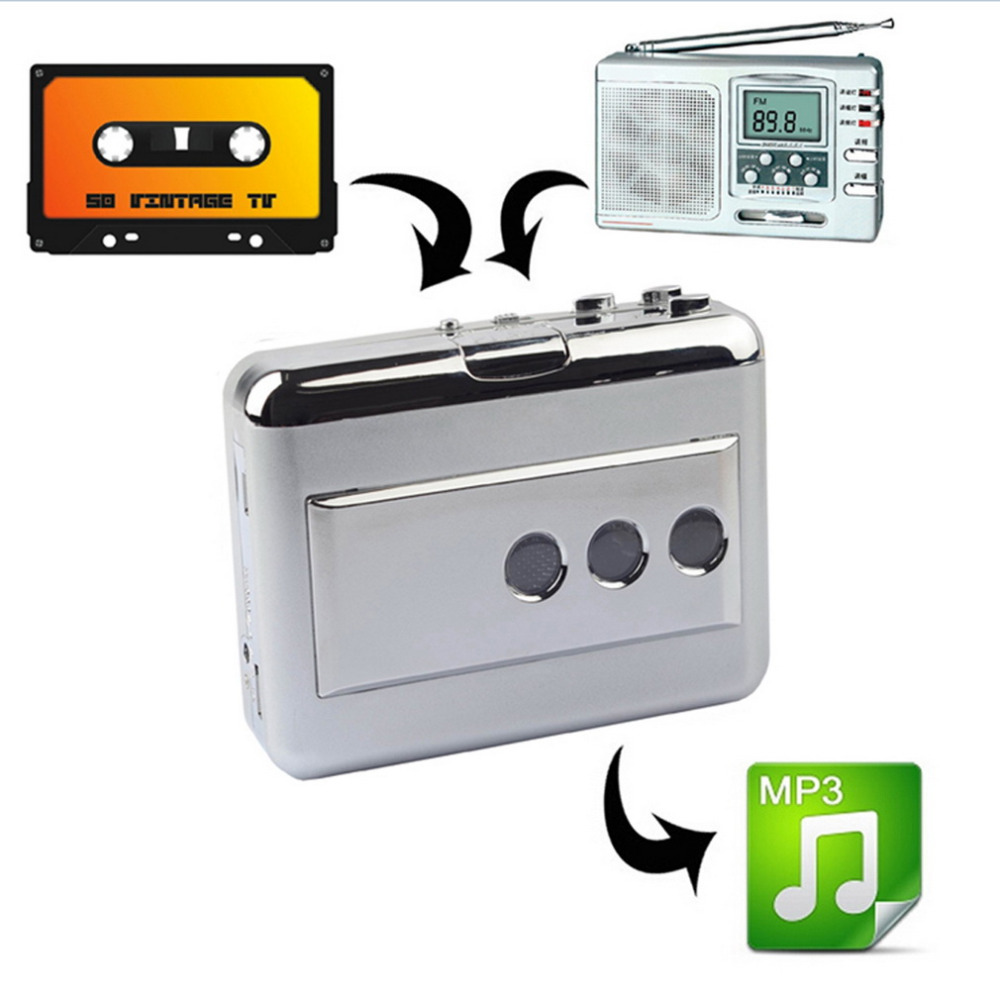 Multi-Function LP/Vinyl Records Tape USB Cassette Capture Portable Music Cassette-to-MP3 Converter Cassette Recorders & Players ...