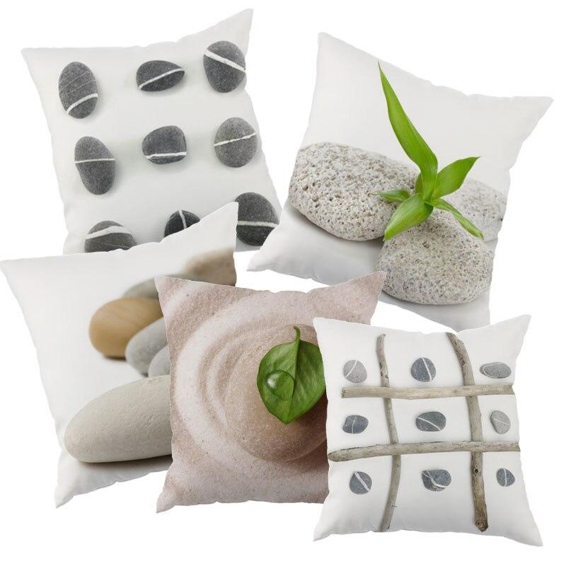 Fashion Nordic Simple Home Art  Zen Design Throw Pillow Case Printed Decorative Pillow Case For Livingroom Bedroom