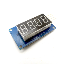 Free shipping! 10pcs/lot 4 Bits Digital Tube LED Display Module With Clock Display TM1637 for Arduino Raspberry PI
