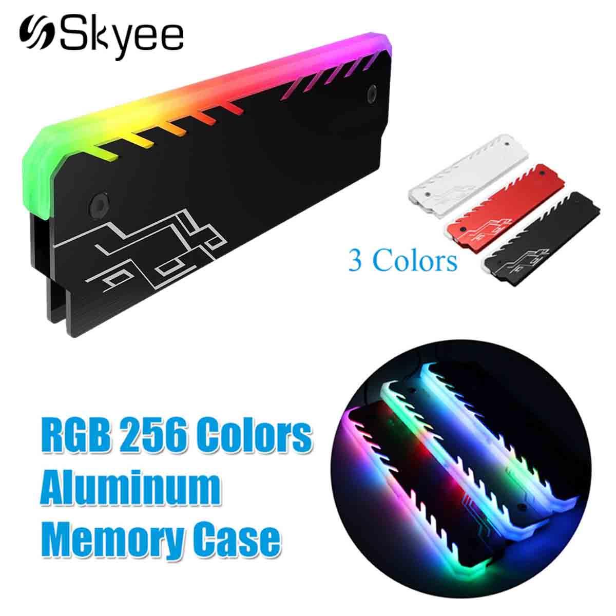 Aluminum-magnesium Alloy Ram Cooling Heatsink 265 Color RGB Light Effect Glow Desktop PC Memory Cooling Vest RAM Cooler Shell ram 399u