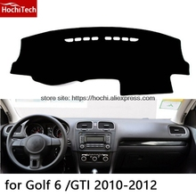 Para Volkswagen VW Golf 4 6 7 Doble capa de gel de Sílice Salpicadero del coche Instrumento Pad Evitar La Luz del Escritorio de la Plataforma Esteras Cubierta de Pegatinas