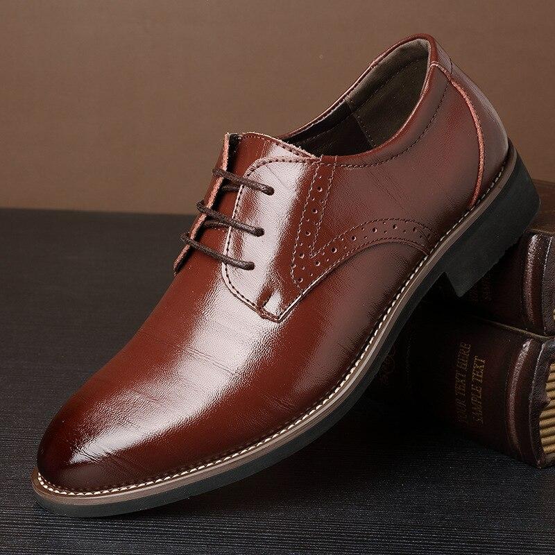 Extra bleu 2018 Hommes Nouvelle angleterre jaune En Shoes37 Large noir Business Casual De Cuir Chaussures 48 Taille Brown wFqzawC