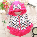 BibiCola 2017 Fashion Baby Girls Jacket Cartoon Minnie Coat Children Outerwear Girls Winter Bow Hooded Jacket For Girl