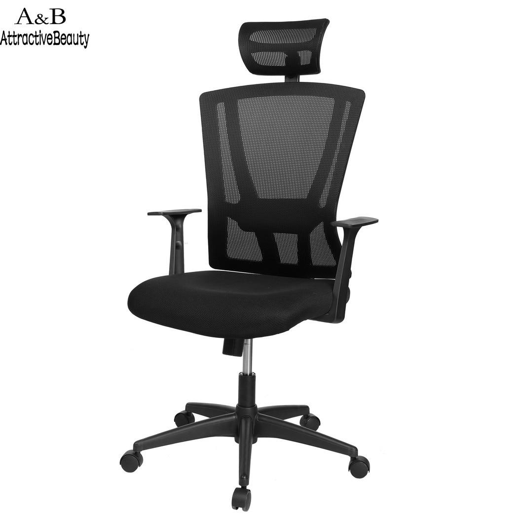 где купить 2018 High Back Mesh Ergonomic Computer Office Swivel Chair Mesh Padded Seat Adjustable Executive Task Chair DZ10 по лучшей цене