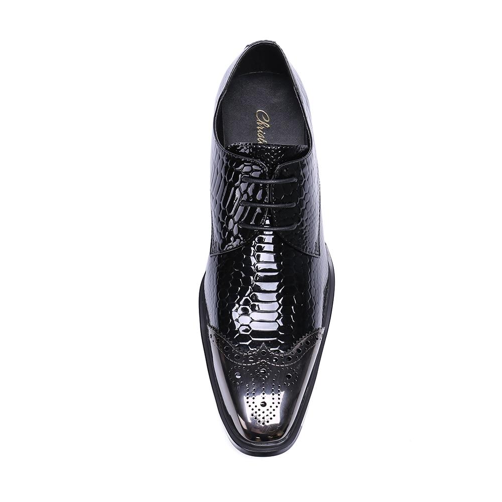 Zapatos Cocodrilo Patrón Vestir Boda Ocio Británico Negro Negocios Christia Casual Bella De rojo Cuero Hombres Moda Negro qBXvt