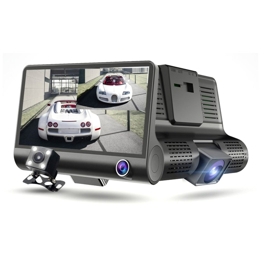Car Camera Drive-Recorder Dash-Cam Night-Vision 3-Lens Inside/rear Full-Hd 1080P DVR