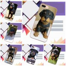 Vvcqod For iPhone X 4 4S 5 5C 5S SE 6 6S 7 8 Plus For Moto G G2 G3 Soft Cases Capa Cover Rottweiler Dog Puppy(China)