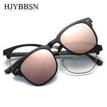 HJYBBSN Polarized Punk Sunglasses Unisex Clip On Sunglasse Vintage Designer Sun Glasses Man Woman oculos de sol masculino