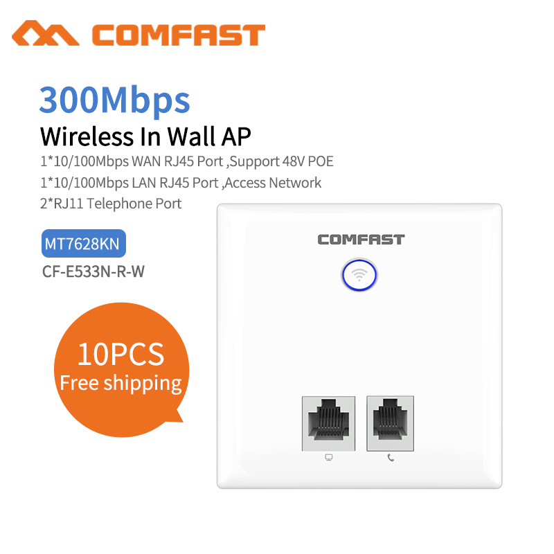 10 Stücke 300 Mbps Wireless Wifi Ap Access Point Router 1 Lan/wan Rj11 Port Wifi Repeater Extender, Indoor Wand Wand 86 Panel Ap
