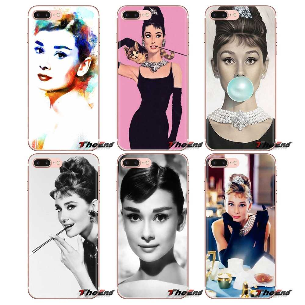 Soft Transparent Shell Covers For Huawei Mate Honor 4C 5C 5X 6X 7 7A 7C 8 9 10 8C 8X 20 Lite Pro legend Lady star Audrey Hepburn