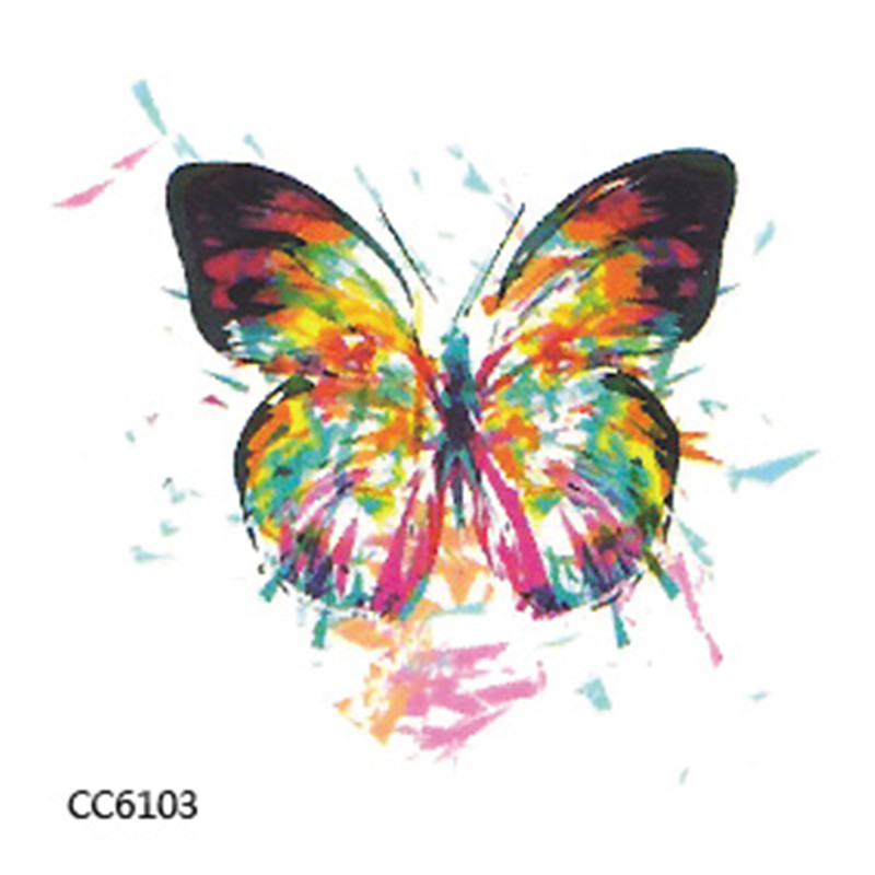 Colourful Butterfly Mini Body Art Waterproof Temporary Tattoos Sex Flash Tattoo Sticker CC6103