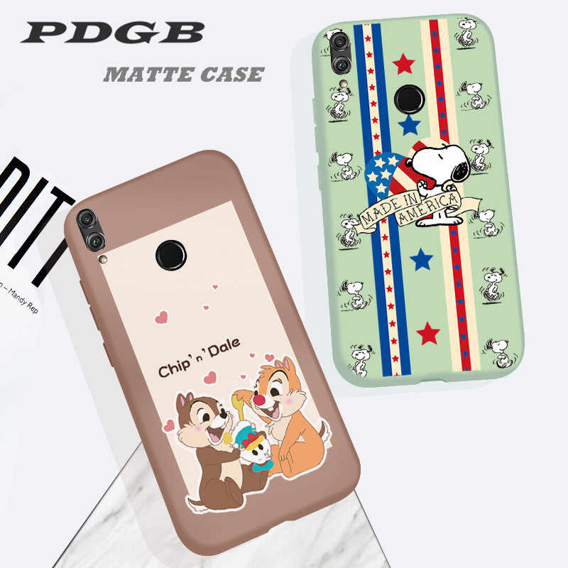 PDGB Painting Case for Huawei Honor 8X 8A 8C 7X 6C 7C V20 20i 9i 9 10 Play Mate 10 20 Lite Cartoon Cover Matte TPU Soft Shell