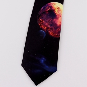 Image 4 - Design Creative Print Tie Boys and Girls Party Birthday Youth Gift Trend Personality Blue Planet Tie