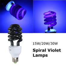 E27 UV LED Lamp 15W 20W 30W UV Light Bulb CFL Spiral Ultraviolet Lamp Fluorescent Black Light Violet Lighting 220V 300-400nm(China)