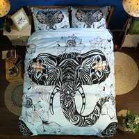 3D Colorful elephant Bedding set Children Adult PillowCase Couple Double bed Duvet Cover Pillowcase Twin Full Queen King