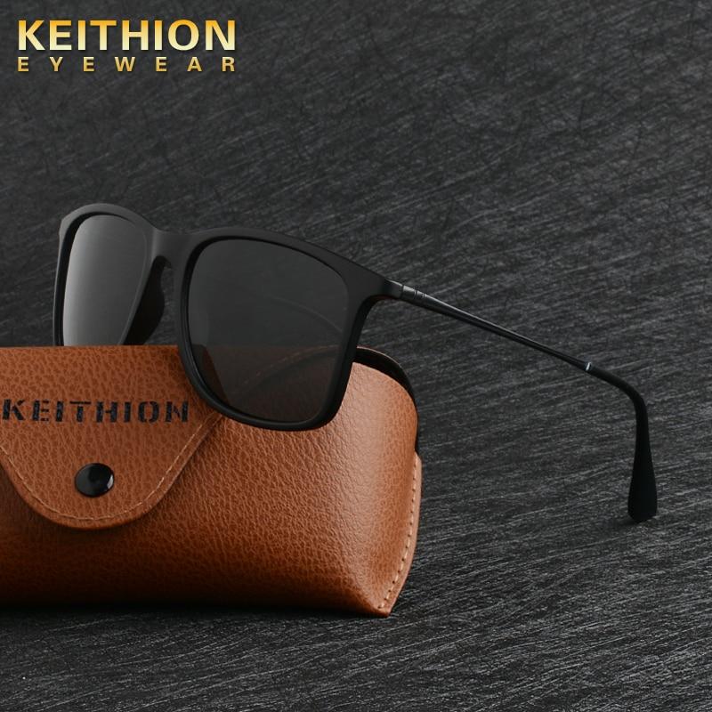 KEITHION Brand Designer Square Vintage Polarized Sunglasses Men Retro Female Fashion Mirrored Eyewear UV400