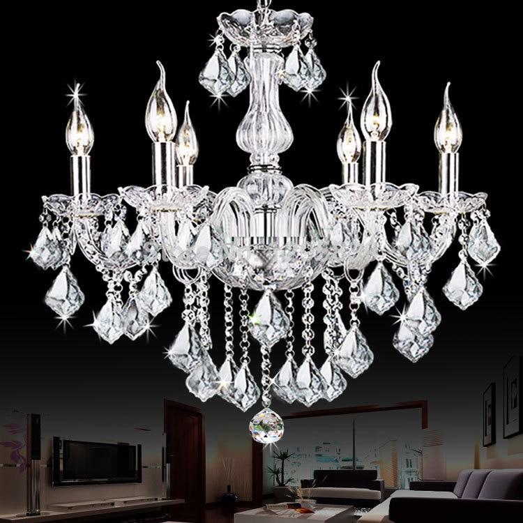 Multiple Chandelier 6 candle Lights font b crystal b font bedroom living room dining room shipping