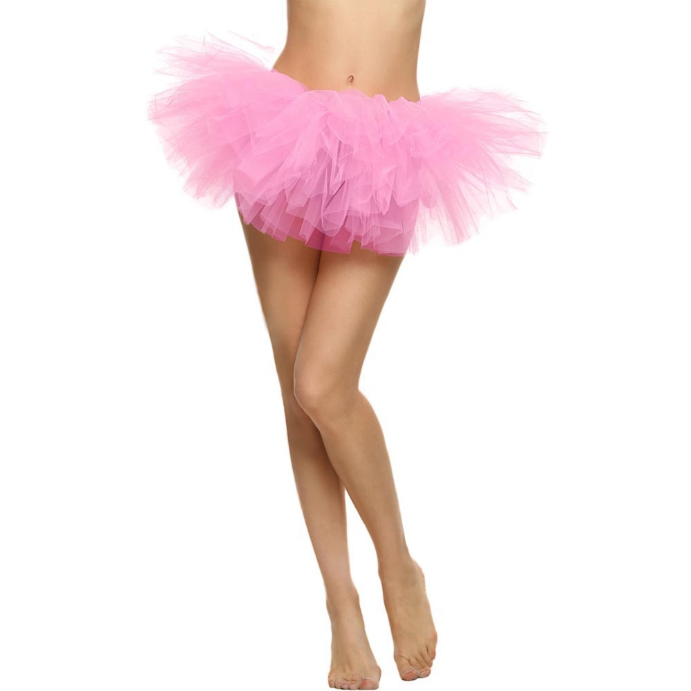 2019 MAXIORILL NEW Hot Sexy Fashion Pretty Girl Elastic Stretchy Tulle Adult Tutu 5 Layer Skirt Wholesale T4 8