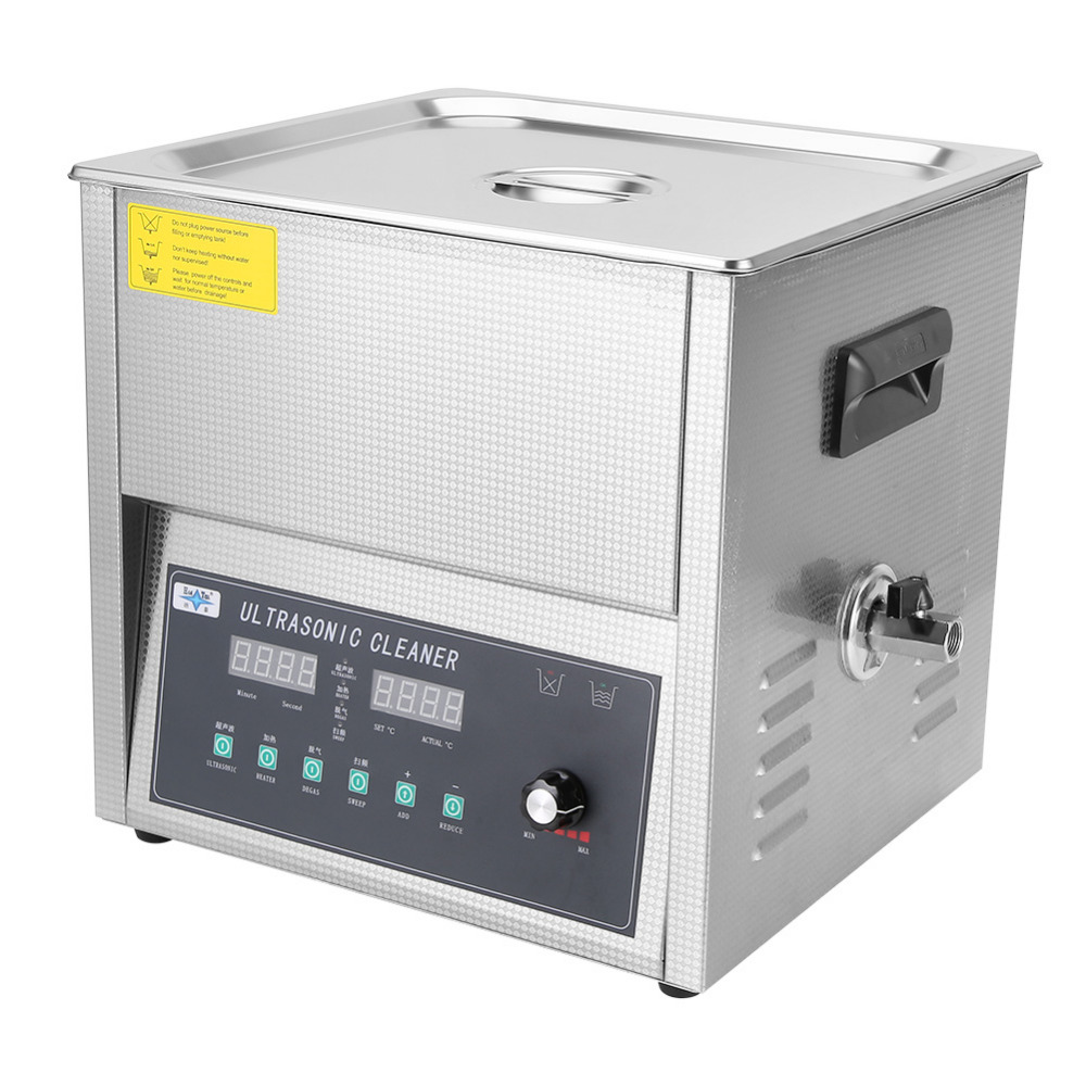 400W 10-22L Stainless Steel Ultrasonic Cleaner Machine Lab Industry Heated Heater Ultra Sonic Cleaning Machine with Timer