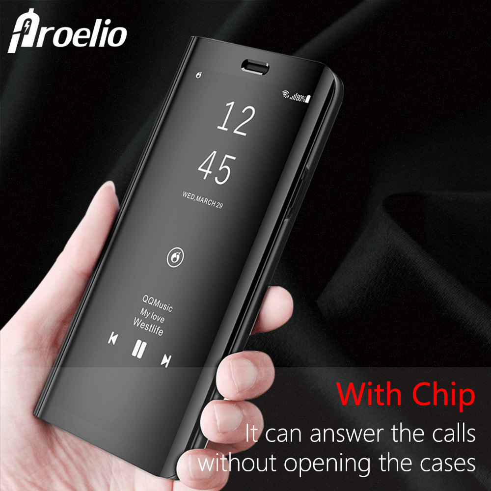 Proelio Luxury Flip Cover Leather Smart Chip Case For Samsung Galaxy Note 8 S6 S7 Edge