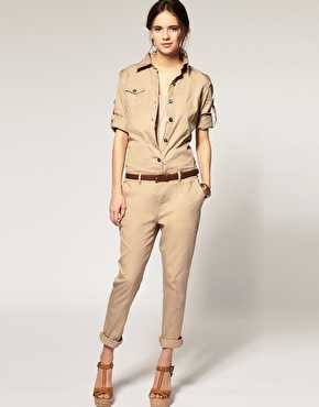 ad6f2e3455ee spring summer 2015 new american style vintage plus size rompers cotton  casual pocket loose women army military jumpsuits D3559