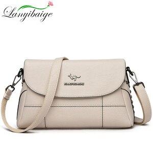 Image 1 - Luxury White Women Messenger Bags Female Leather Handbags Small Crossbody Bag For Women Shoulder Bags Famous Brand Designers New