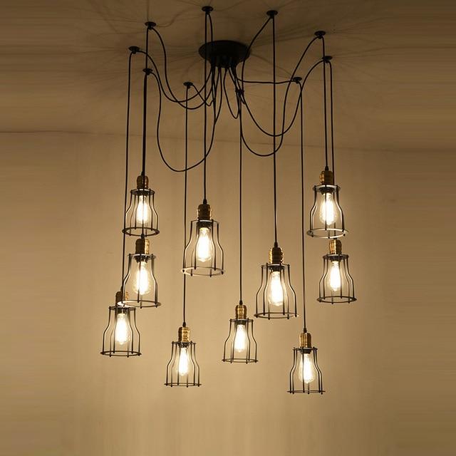 Nice Vintage Style Loft Design Esszimmer Lampe Lichter Edison Spinne Lampe Mit  Eisen Abdeckung Kreative Kopf DIY