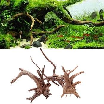 88fbf9196b92 De madera decorativa de madera tanque de peces Natural árbol de madera del  tanque de peces de acuario planta de ornamento decoración paisaje